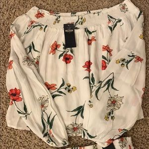 Two piece (white and red flower design)
